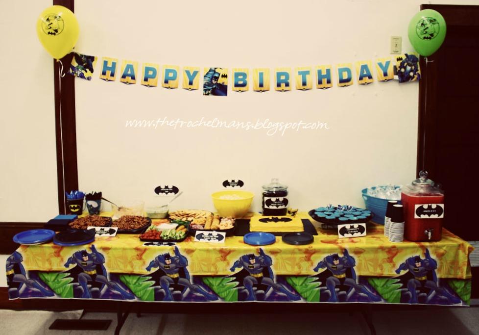 The Trochelmans Batman Birthday Party