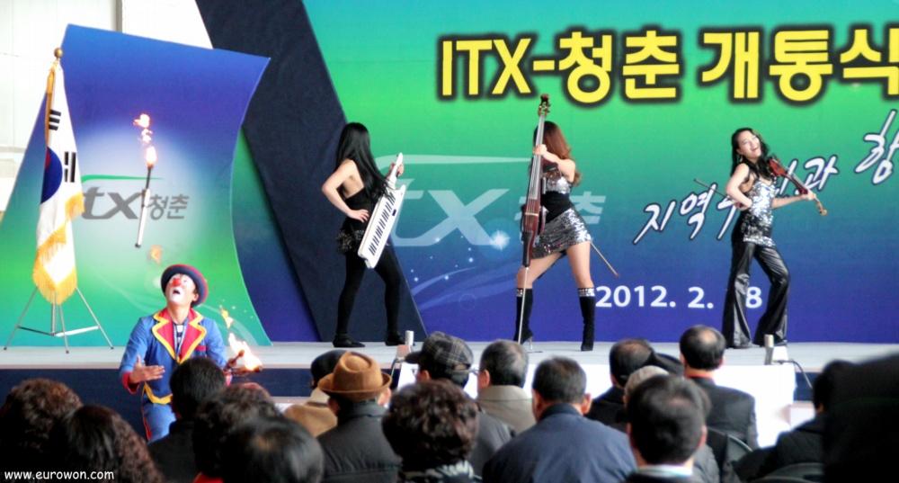 Ceremonia de inauguración del tren ITX a Chuncheon