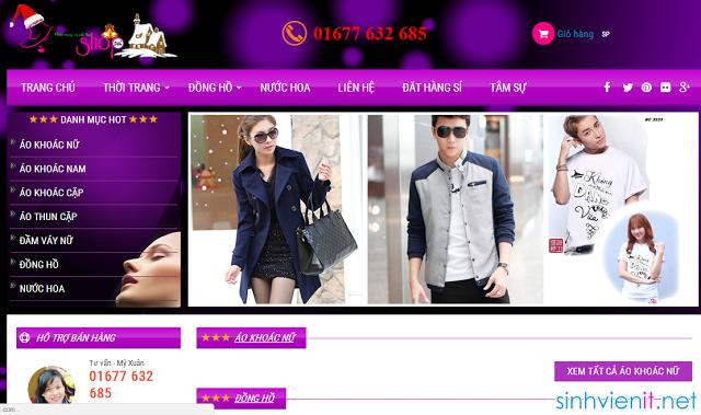 Template Blogspot Shop bán quần áo đẹp nhất 2015