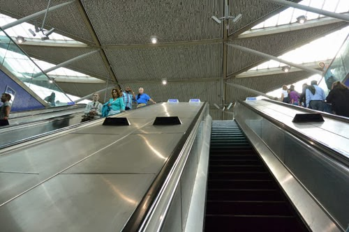 North Greenwich Station escalator