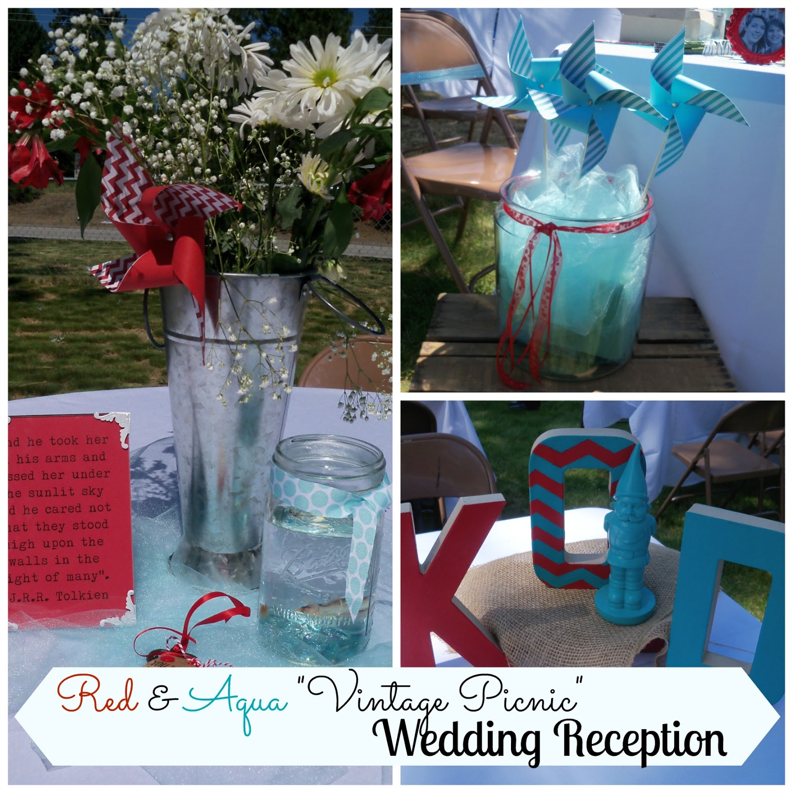 Clares Contemplations Red Aqua And Cute All Over Vintage Picnic