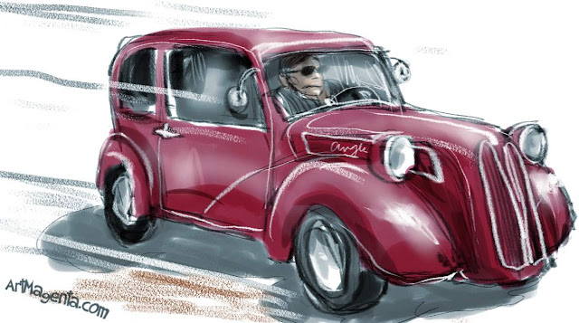 Ford Anglia is a sketch by artist and illustrator Artmagenta