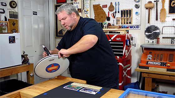 Attaching a Drumhead with Hot Glue