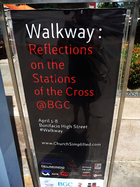 Walkway Reflections of the Cross poster