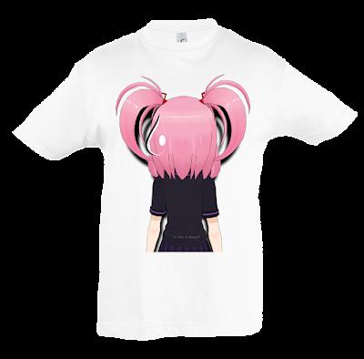 """Camiseta manga corta para niñas """"Gota"""" color blanco"""