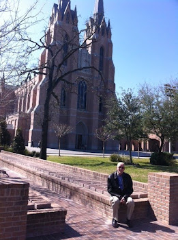 JOE IN FRONT OF ST MARTIN'S EPISCOPAL CHRUCH BEFORE WE ATTENDED SUNDAY SERVICE.