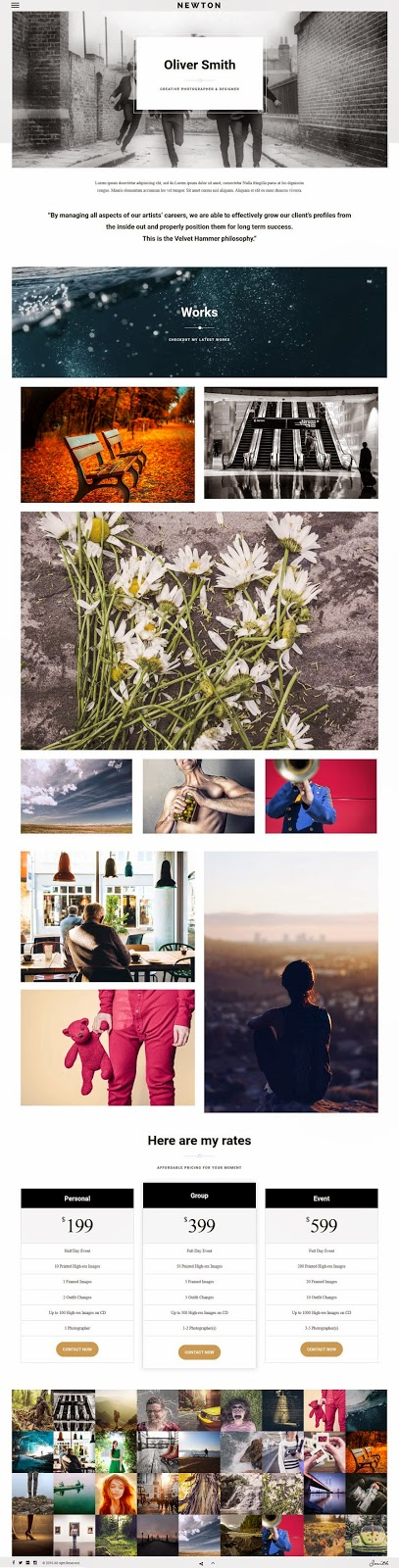 Responsive Photography WordPress Theme 2015