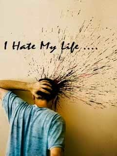 I Hate My Life 240x320 Mobile Wallpaper #11