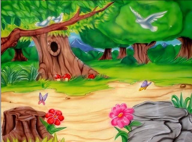 dibujos coloreados de paisajes infantiles - Imagenes y dibujos para ...