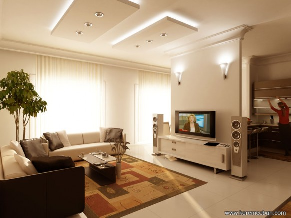 decora y disena 5 Salas de Estar con TV Estilo Moderno