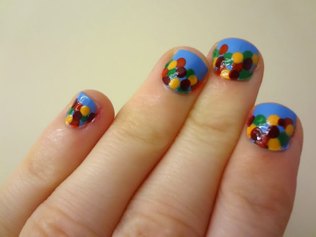 Fall foliage nails, leaves, nails, nail art, abstract