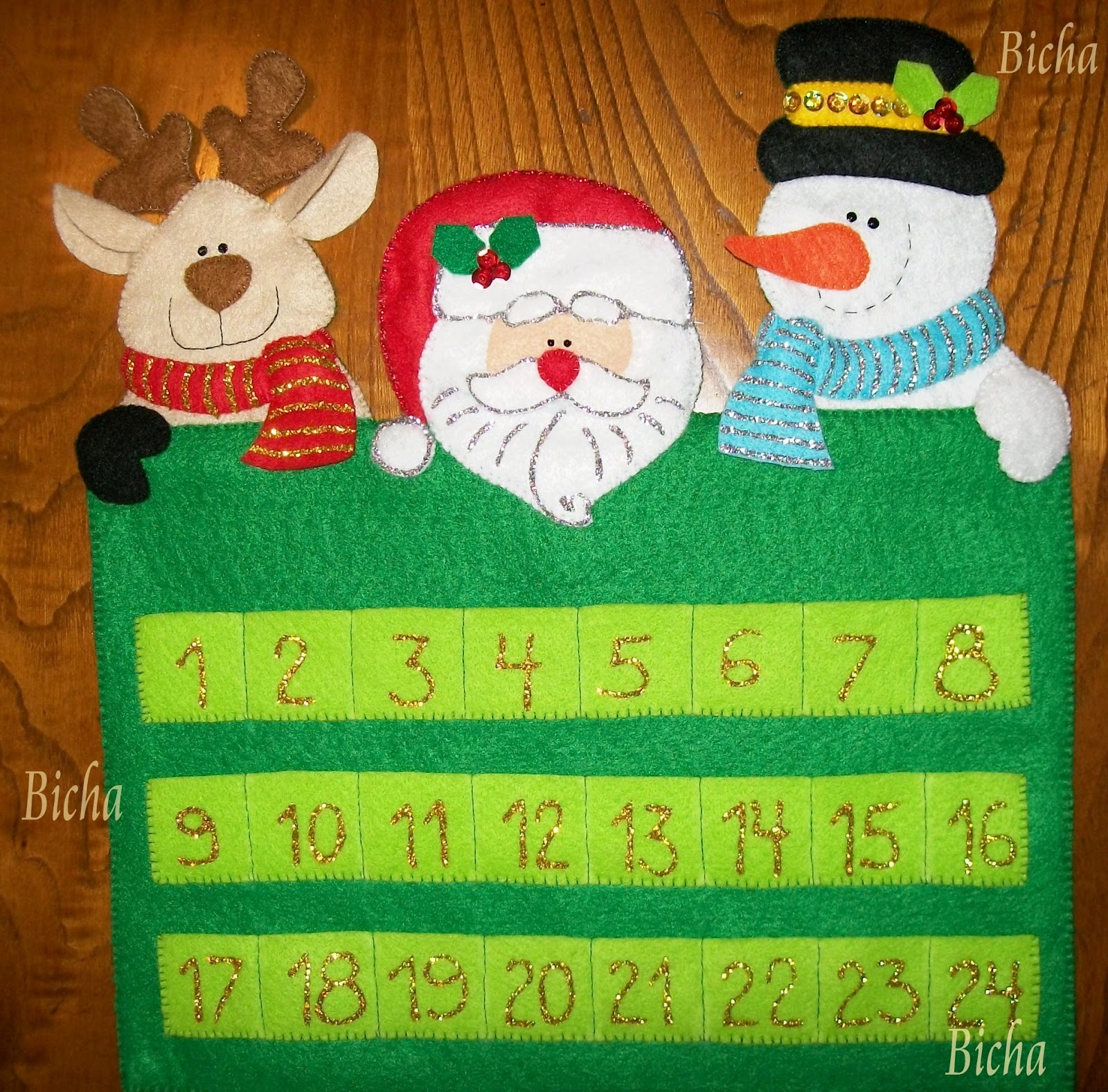 les dejo ahora algunos calendarios de adviento espero les gusten