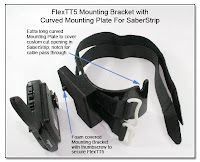 FlexTT5 Mounting Bracket with Curved Mounting Plate for SaberStrip - (Outside View with FlexTT5 Removed)