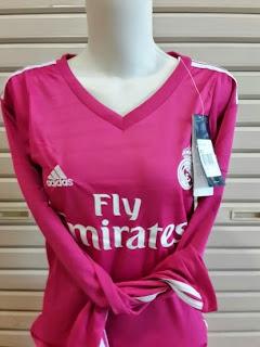 gambar jersey ladies real madrid lengan panjang 2014/2015 Away, grade ori, jual baju bola madrid online, enkosa