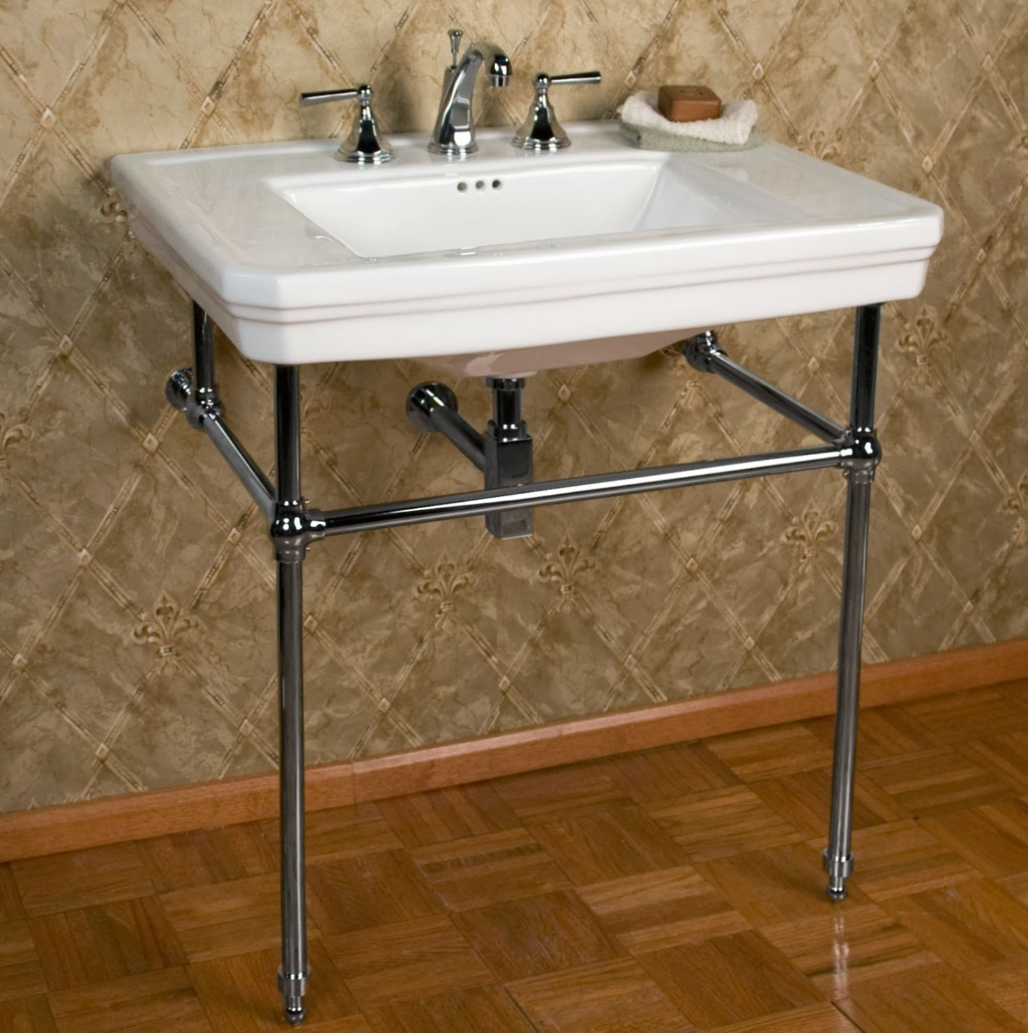 Bathroom Sink Legs : ... - The Mason Console Sink - from Signature Hardware for just $600