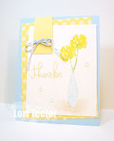Watercolored Thanks-designed by Lori Tecler/Inking Aloud-stamps from Paper Smooches