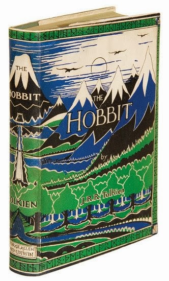 1937-dust-jacket-of-the-hobbit-with-black-white-blue-mountains