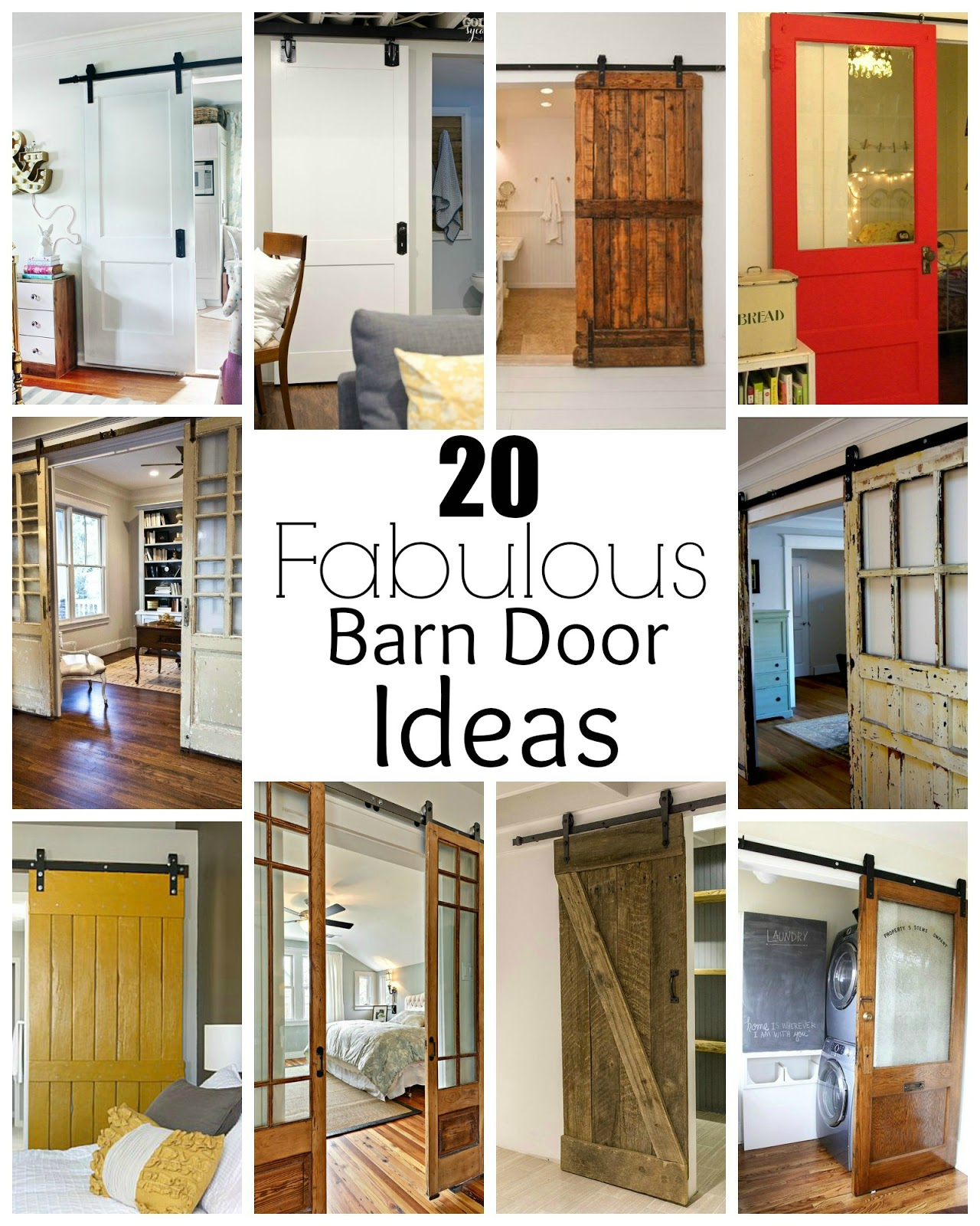 20 Fabulous barn doors perfect for any style and space.  sc 1 st  Little House of Four & 20 Fabulous Sliding Barn Door Ideas | Little House of Four ...
