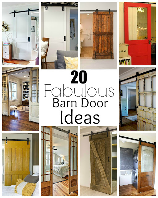 20 fabulous sliding barn door ideas little house of four for Sliding doors that look like french doors