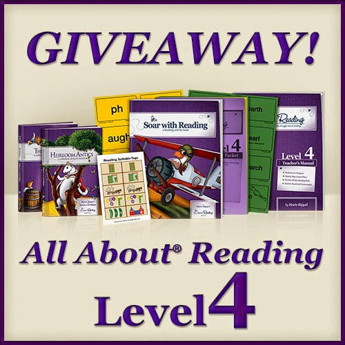 All About Reading Level 4 is available NOW!. Save $20 and enter a giveaway for this reading curriculum.