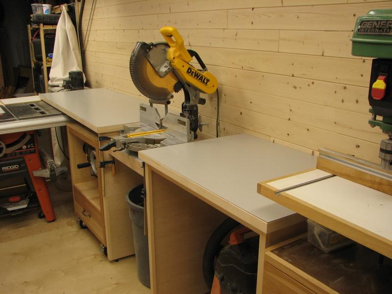 Une r alisation de tomy b dard table de support et guide pour scie onglets - Scie sur table fabrication maison ...