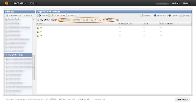 Amazon S3 Log Folder Structure