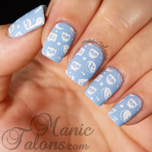 Messy Mansion MM38, Baby Owls Manicure