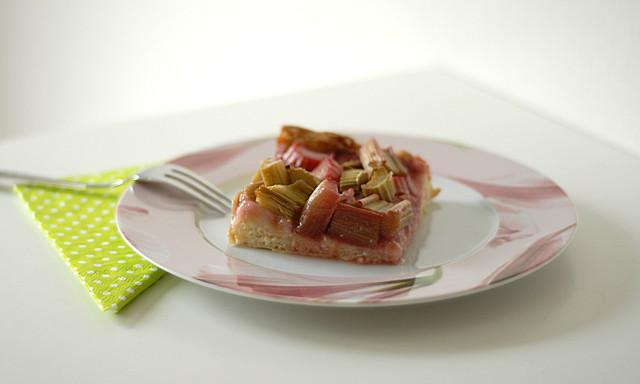 Himbeer-Rhabarber-Kuchen
