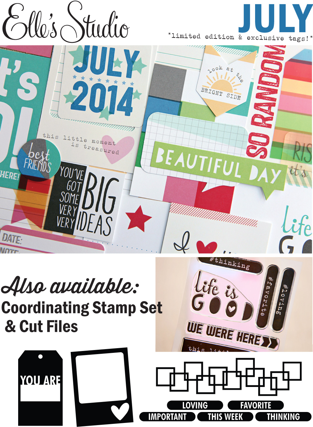 Elle's Studio July 2014 Limited Edition and Exclusive Kit