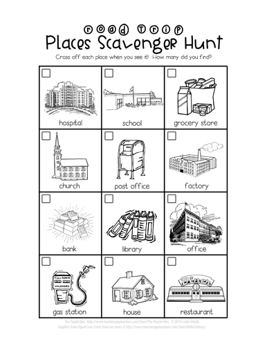 Places Scavenger Hunt