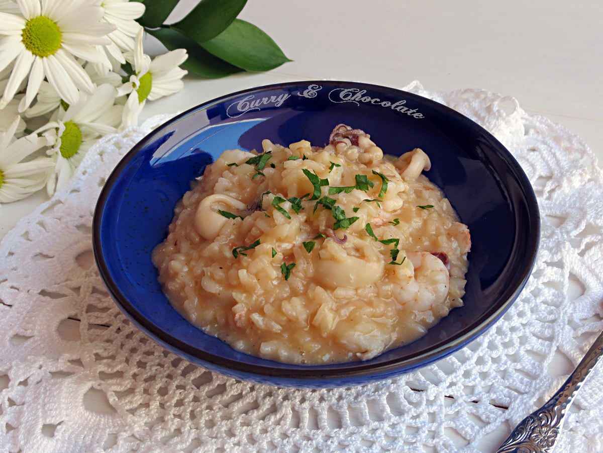 Falso risotto de chipirones y gambas - Fake risotto with squid and ...