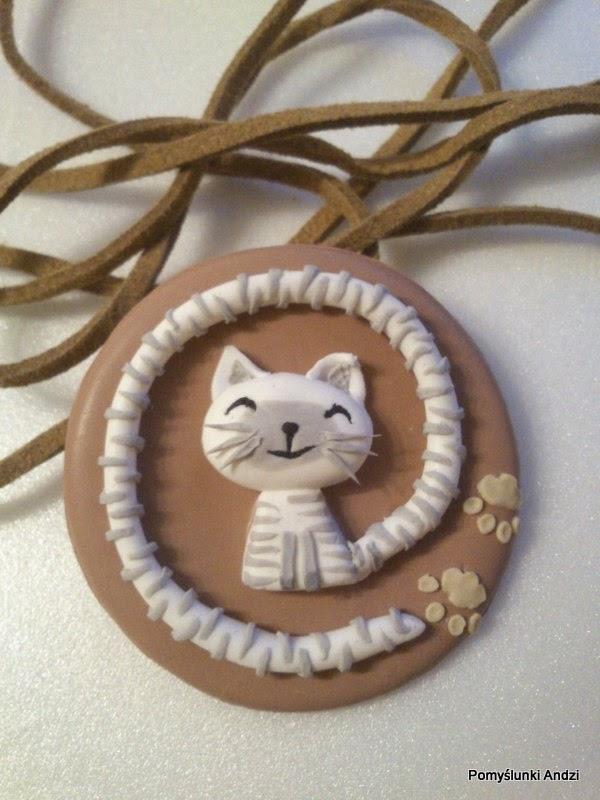pendant, cat, wisior, kot,
