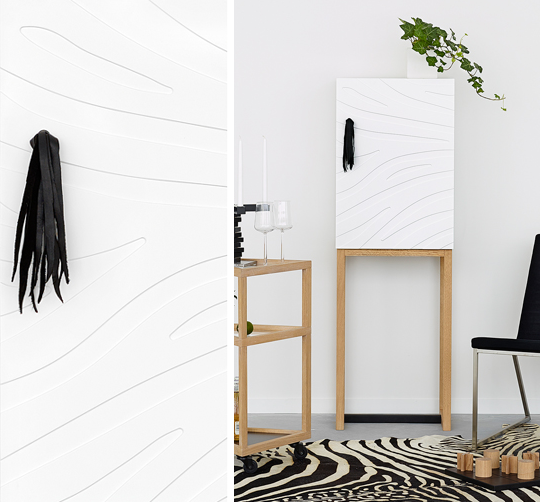 A2 designers skåp Safari med subtilt zebramönster | www.var-dags-rum.se