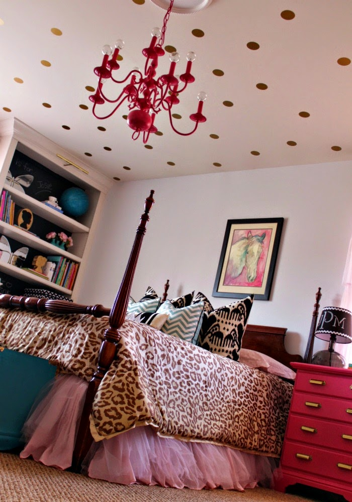 pattern mixing in a little girl's room - leopard is a neutral