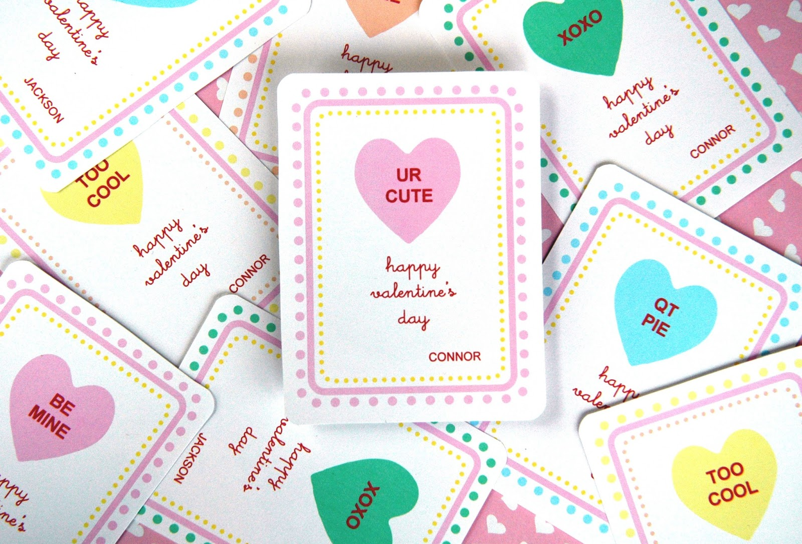 This is a graphic of Nifty Valentines Day Card Printable