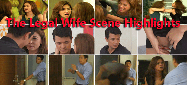 The Legal Wife Scene Highlights; flight in Canada, sabunutan, Pamilya Kami! Pamilya Kami, Monica threw books to Adrian