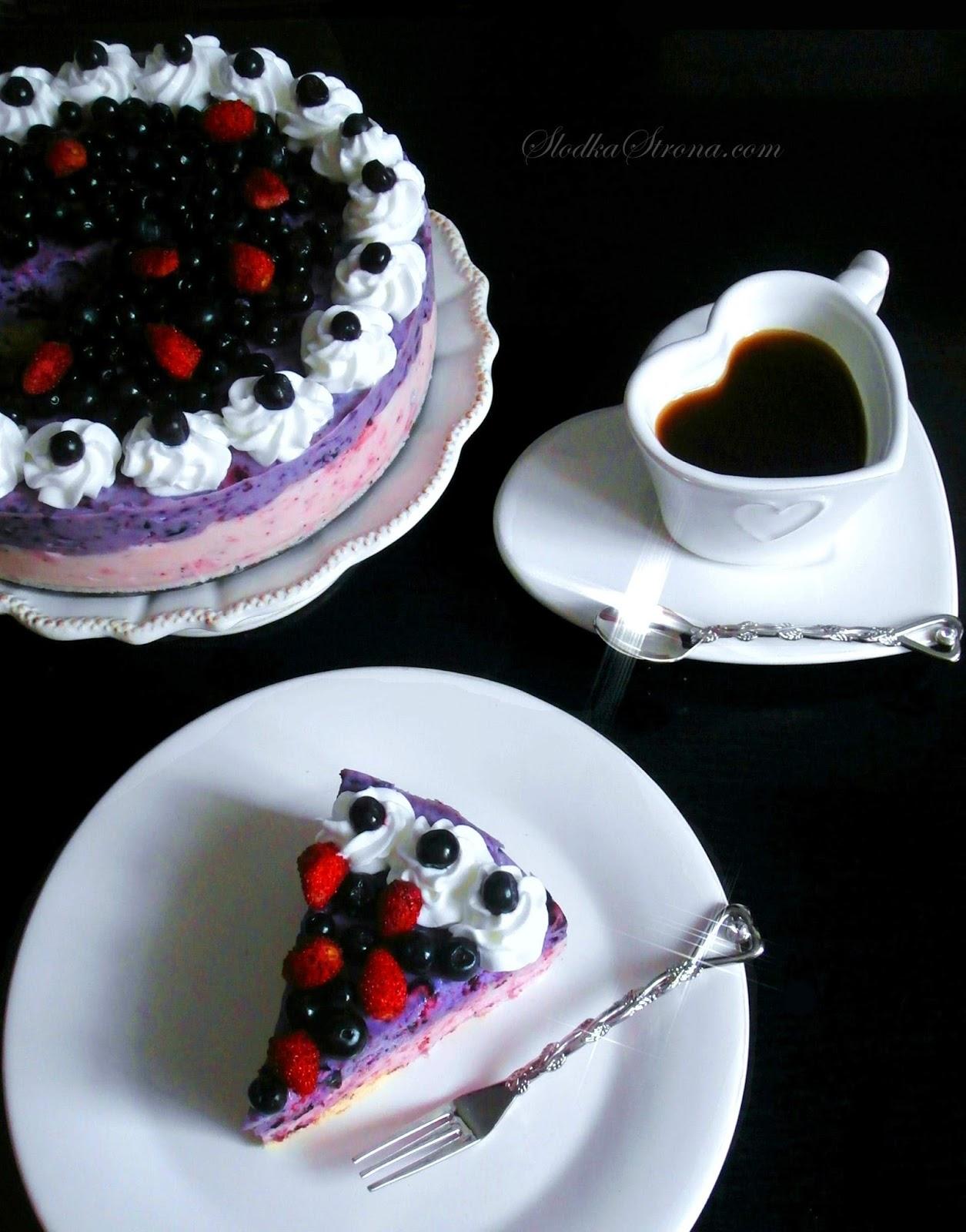 jagodowe ciasto bez pieczenia