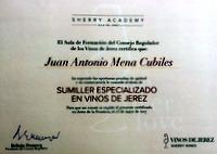 SUMILLER ESPECIALIZADO EN VINOS DE JEREZ.