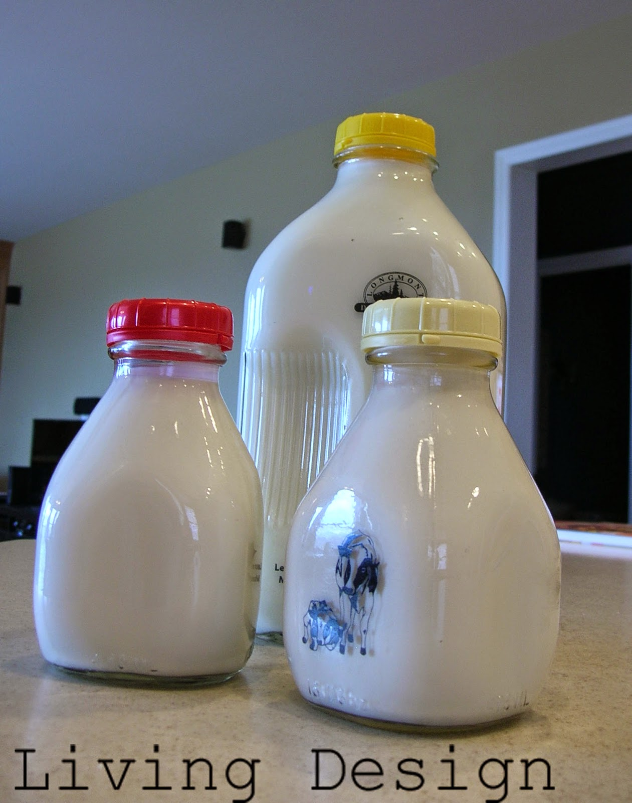 Living Design: Waste Not Day 1 Glass Milk Bottles