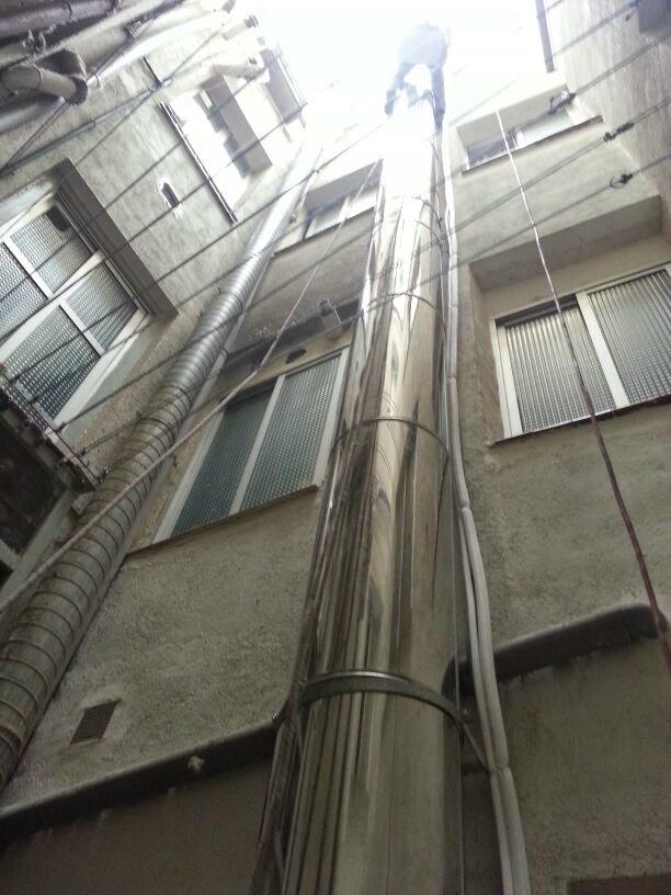 Tiene que ir en relaci n el tubo de la chimenea al - Tubos para salida humos cocina ...
