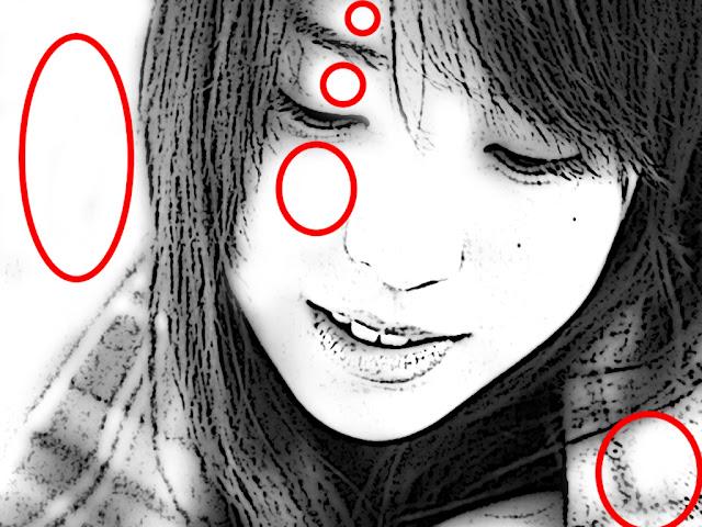 lingkaran merah adalah bagian yang Anda hapus