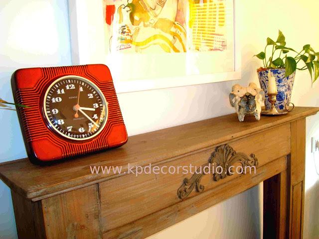 KP. Tienda vintage online. Comprar reloj cerámico antiguo. Alemán años 60