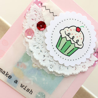 SRM Stickers Blog - Make A Wish Card by Tessa Wise - #srmpress #srmstickers #birthday #card #stickers #glassinebag #punchedpieces