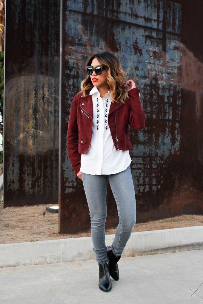 How to style suede jacket for fall