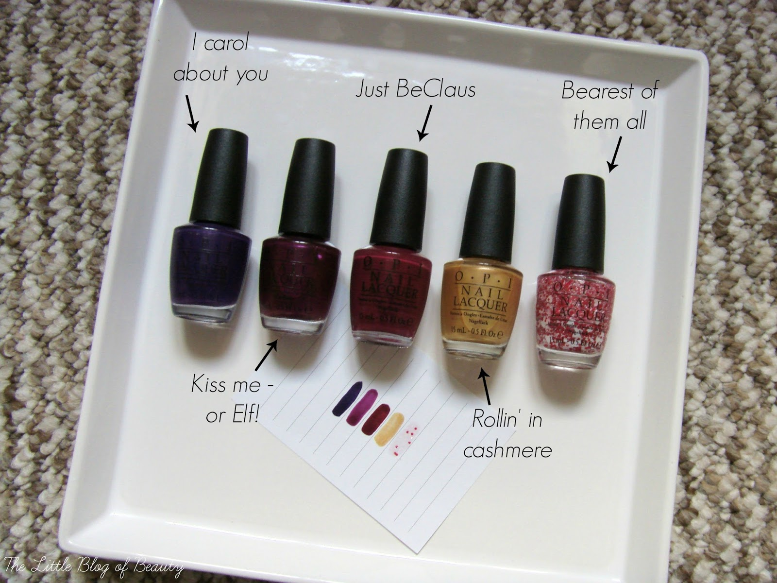 OPI nail varnishes - Gwen Stefani & Coca Cola