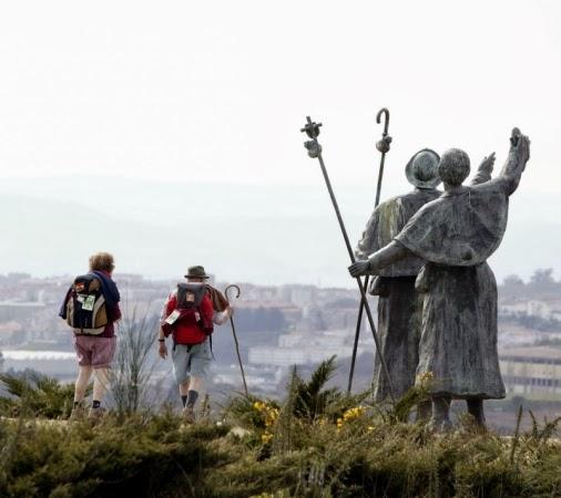Los peregrinos en el Camino de Santiago