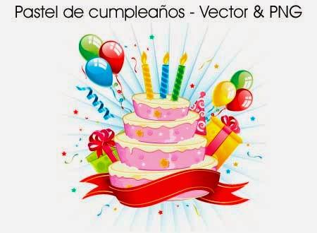 Pastel de cumpleaños Vector y PNG ~ Photoshop Facil