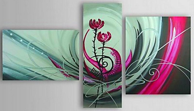 Cuadros modernos pinturas y dibujos cuadros tr pticos for Laminas de cuadros modernos