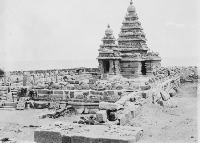 One of Seven Pagodas of Mahabalipuram Early 1900's