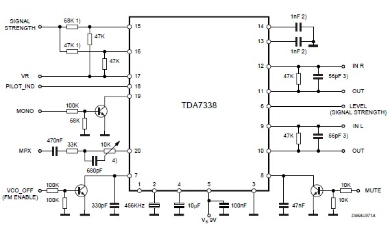 Electronic Components Crazy Fans Fm Stereo Decoder Using